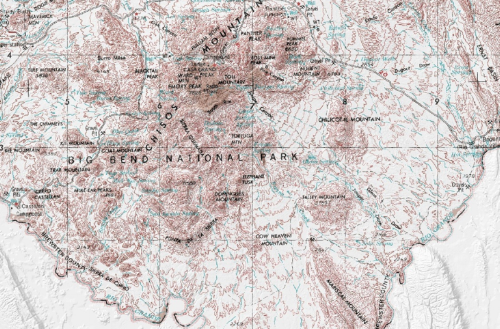 Topographic map of the Chisos