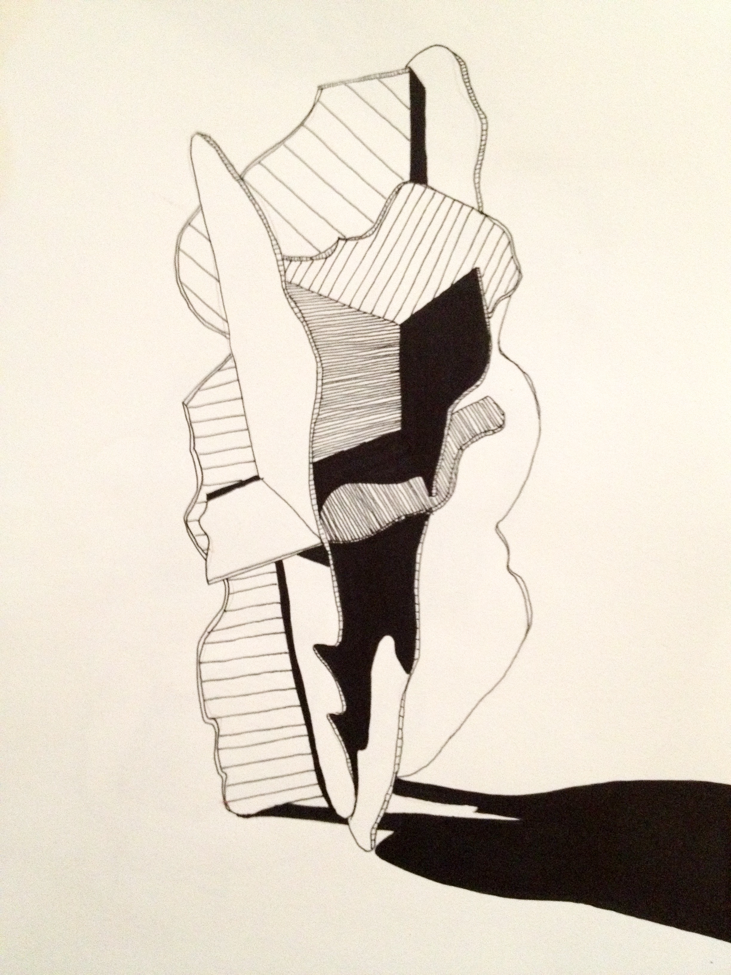 Form I  (Ink on Paper, 2011)