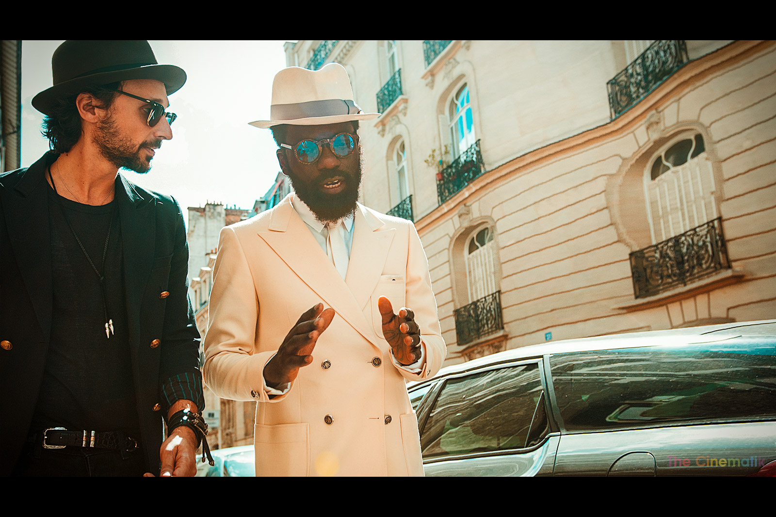 The Koople's founder Alexandre Elicha and Sam Lambert cinematic photograph at Paris Fashion Week by Kamal Lahmadi