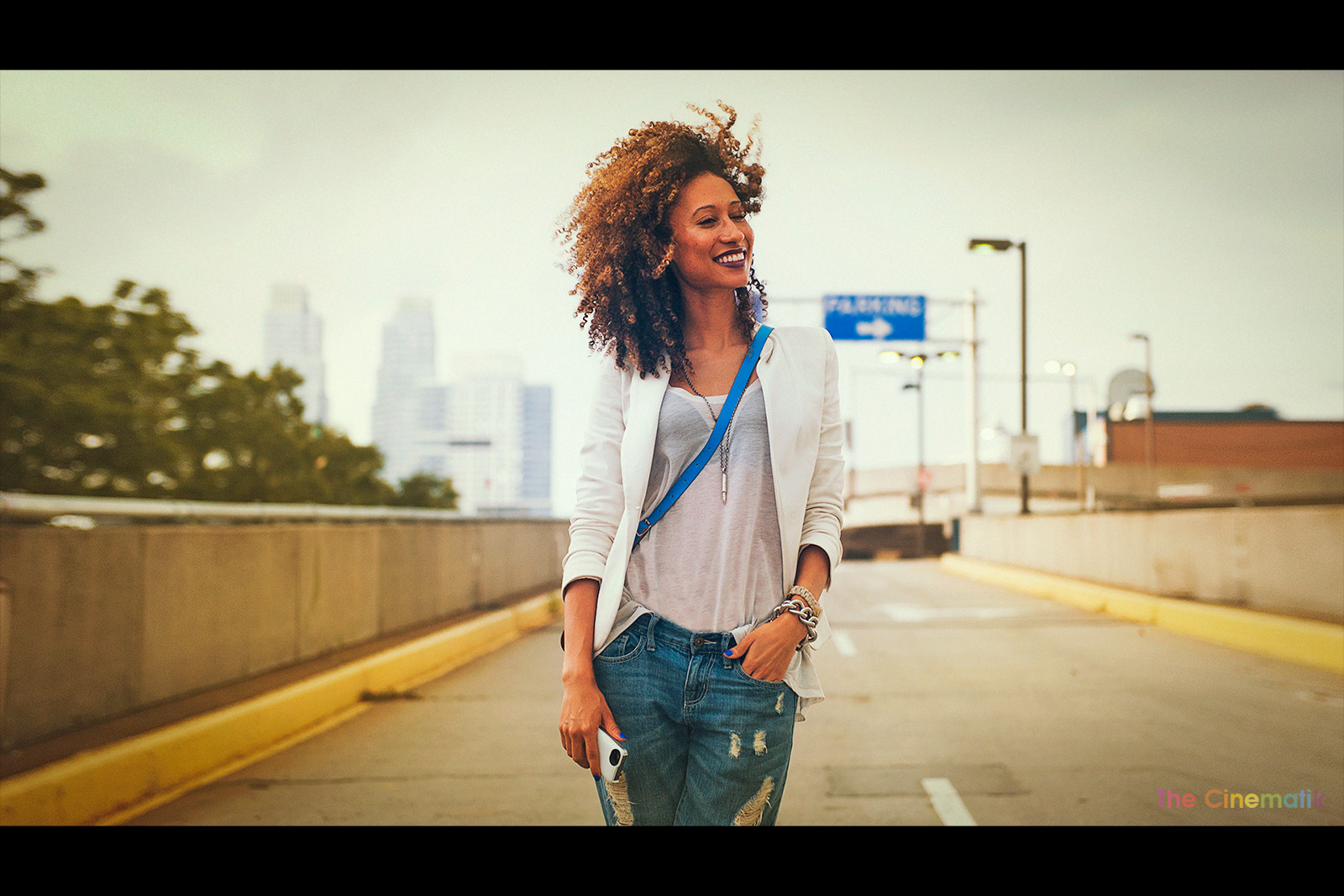 Elaine Welteroth cinematic photograph at New York Fashion Week by Kamal Lahmadi