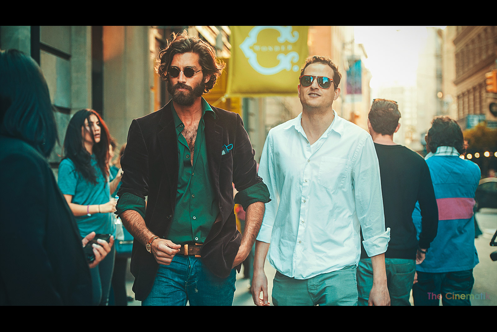Male model Maximiliano Patane street style cinematic photograph in New York by Kamal Lahmadi