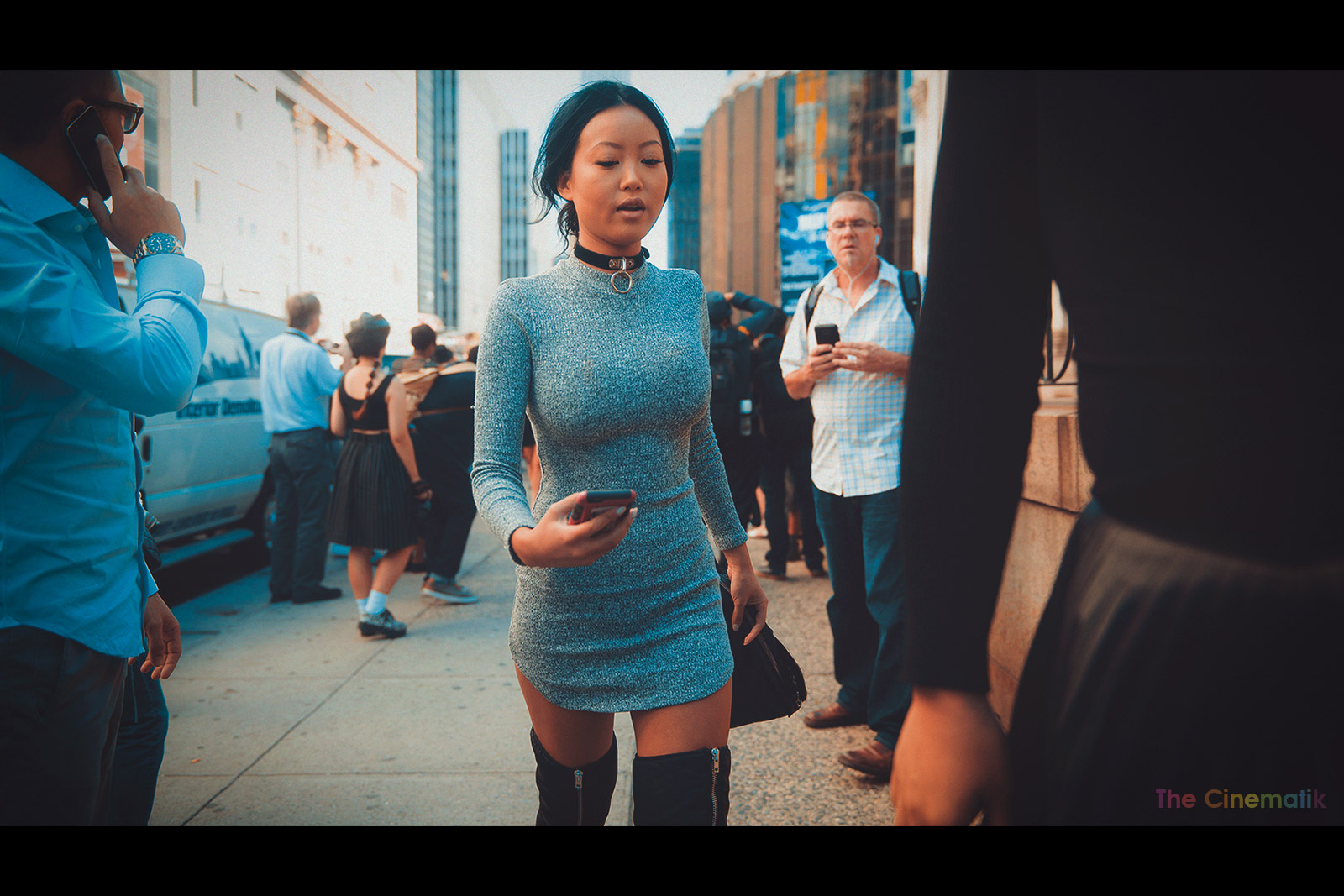 Glamorous sexy asian female guest cinematic photograph at New York Fashion Week by Kamal Lahmadi
