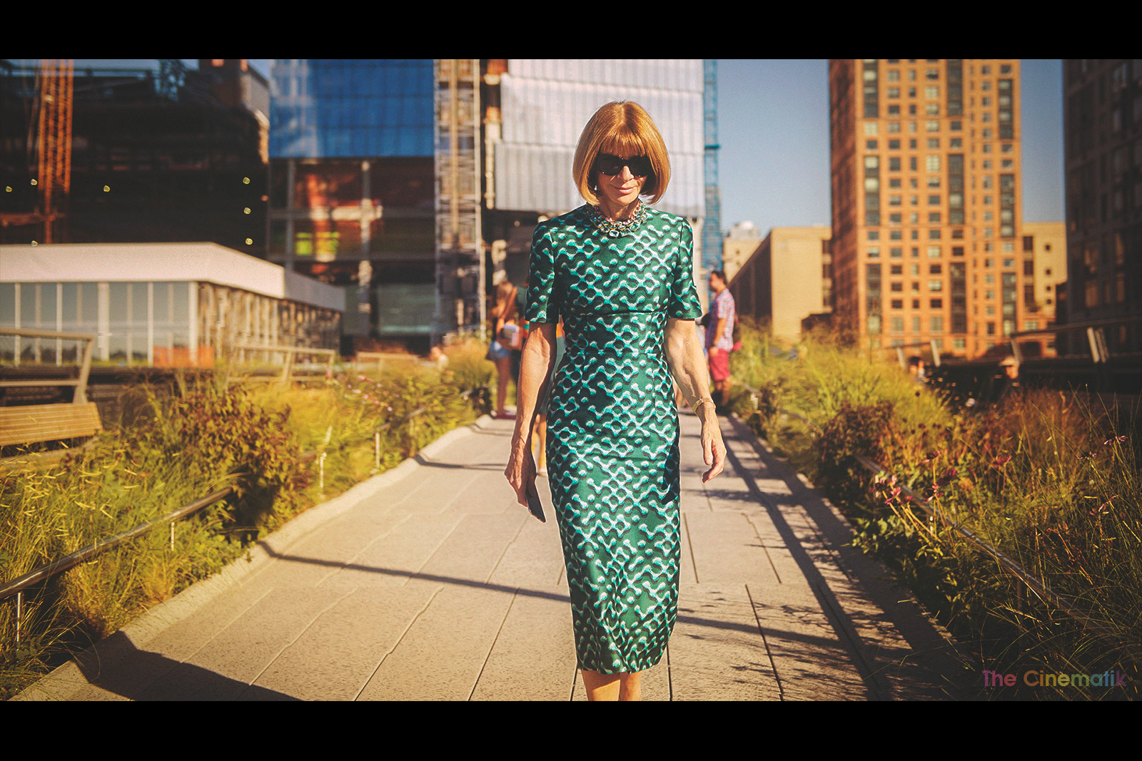 Vogue'Anna Wintour always has a smile for me at New York Fashion Week cinematic photograph by Kamal Lahmadi/THE CINEMATIK