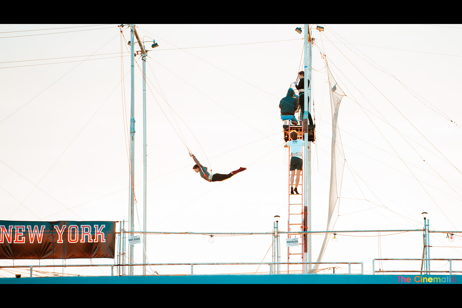 Copy of Girl on a trapeze taking the plunge in New York City Cinematic photography by Kamal Lahmadi / The Cinematik