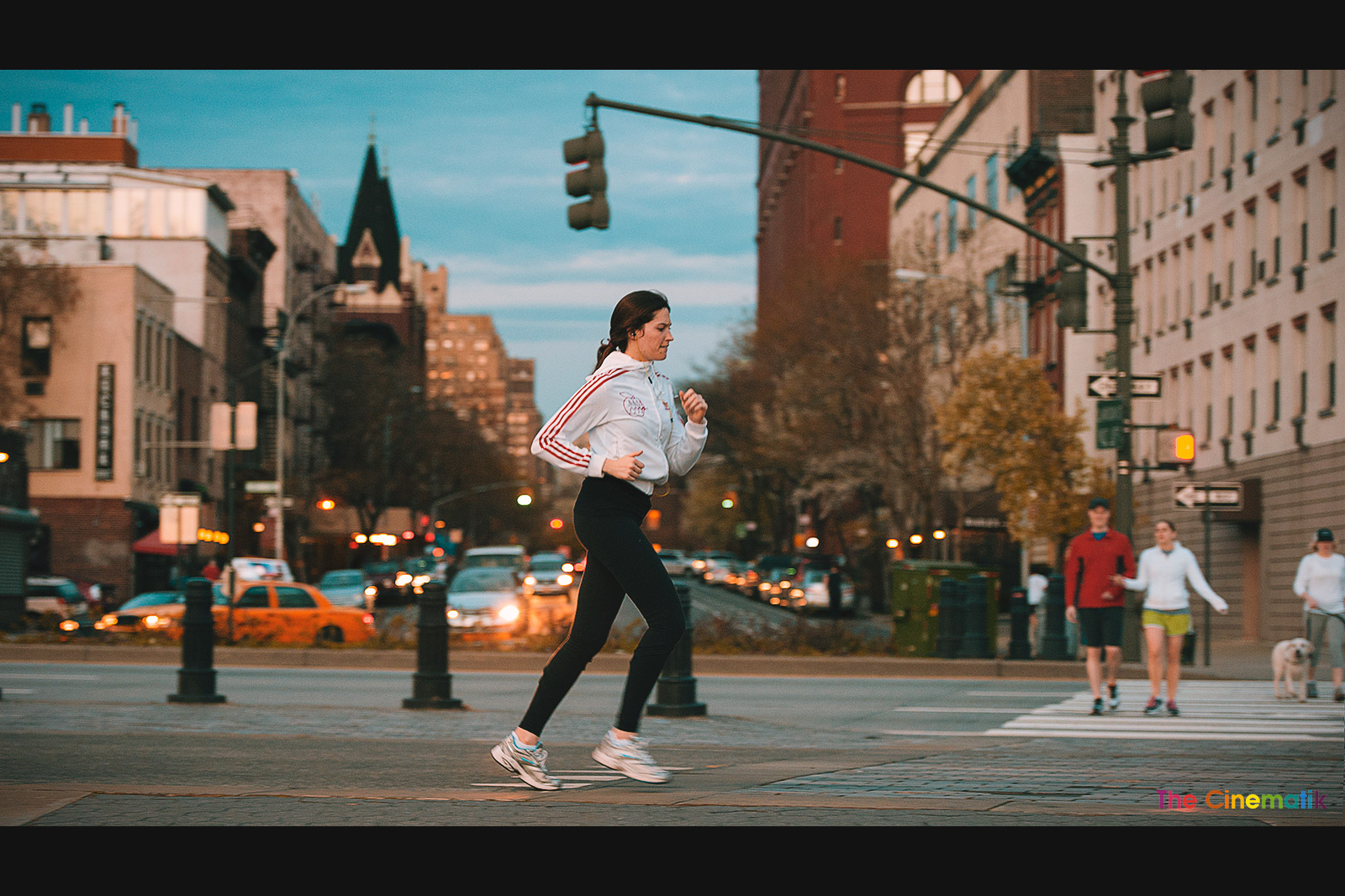 Copy of Adidas young woman jogging in Manhattan Cinematic photography by Kamal Lahmadi / The Cinematik