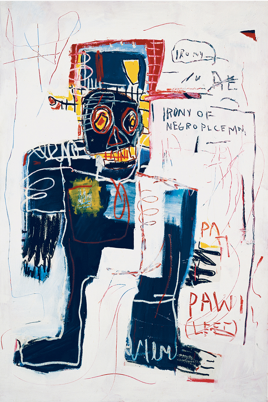 49045 Jean-Michel Basquiat irony of a negro policeman 1981.jpg