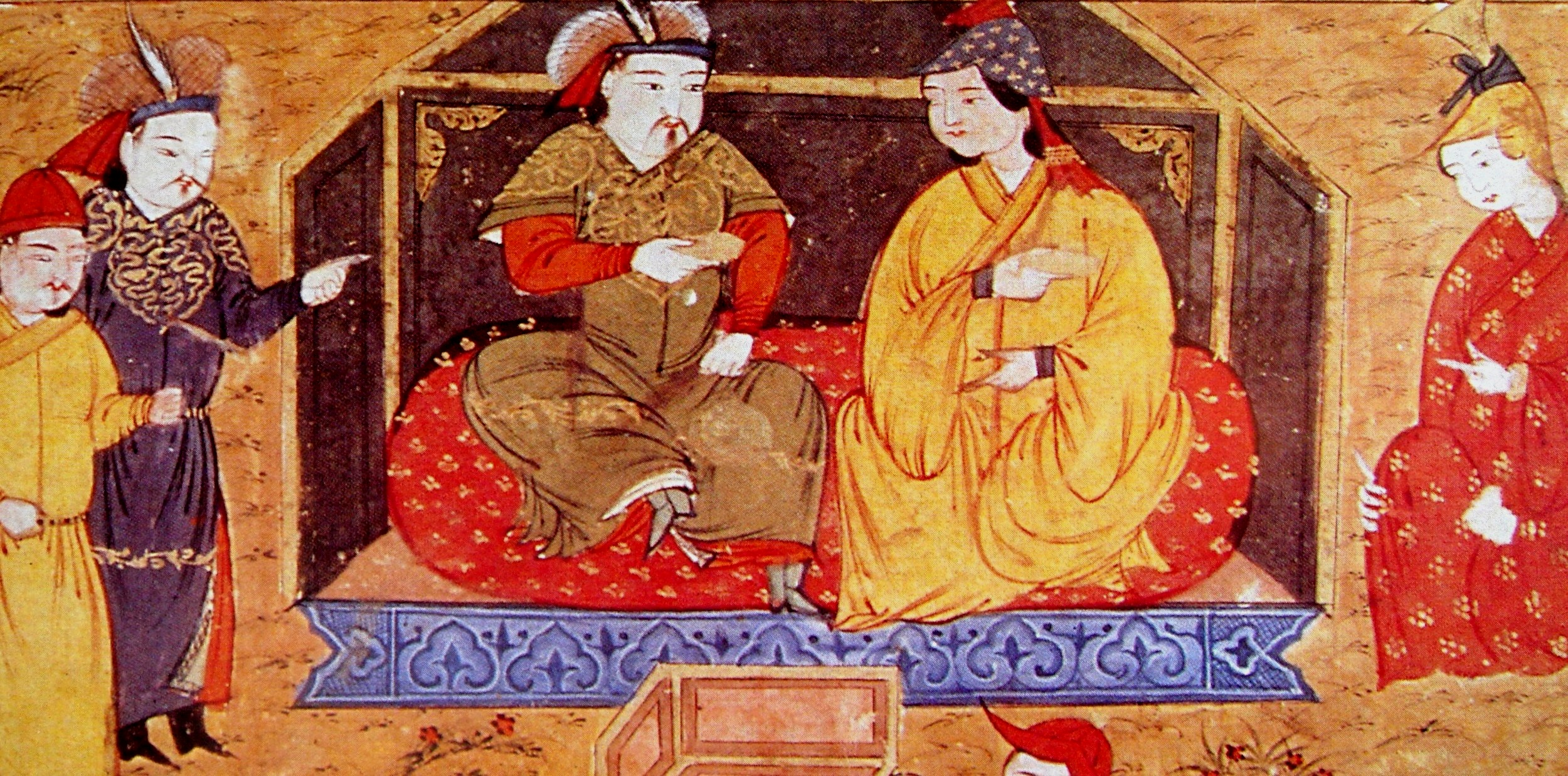 Hulagu Khan and Doquz Khatun of the Ilkhanate