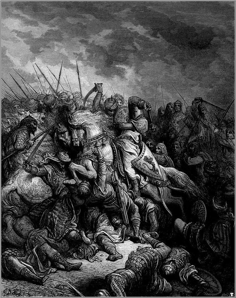 The Battle of Arsuf as depicted by Gustave Doré