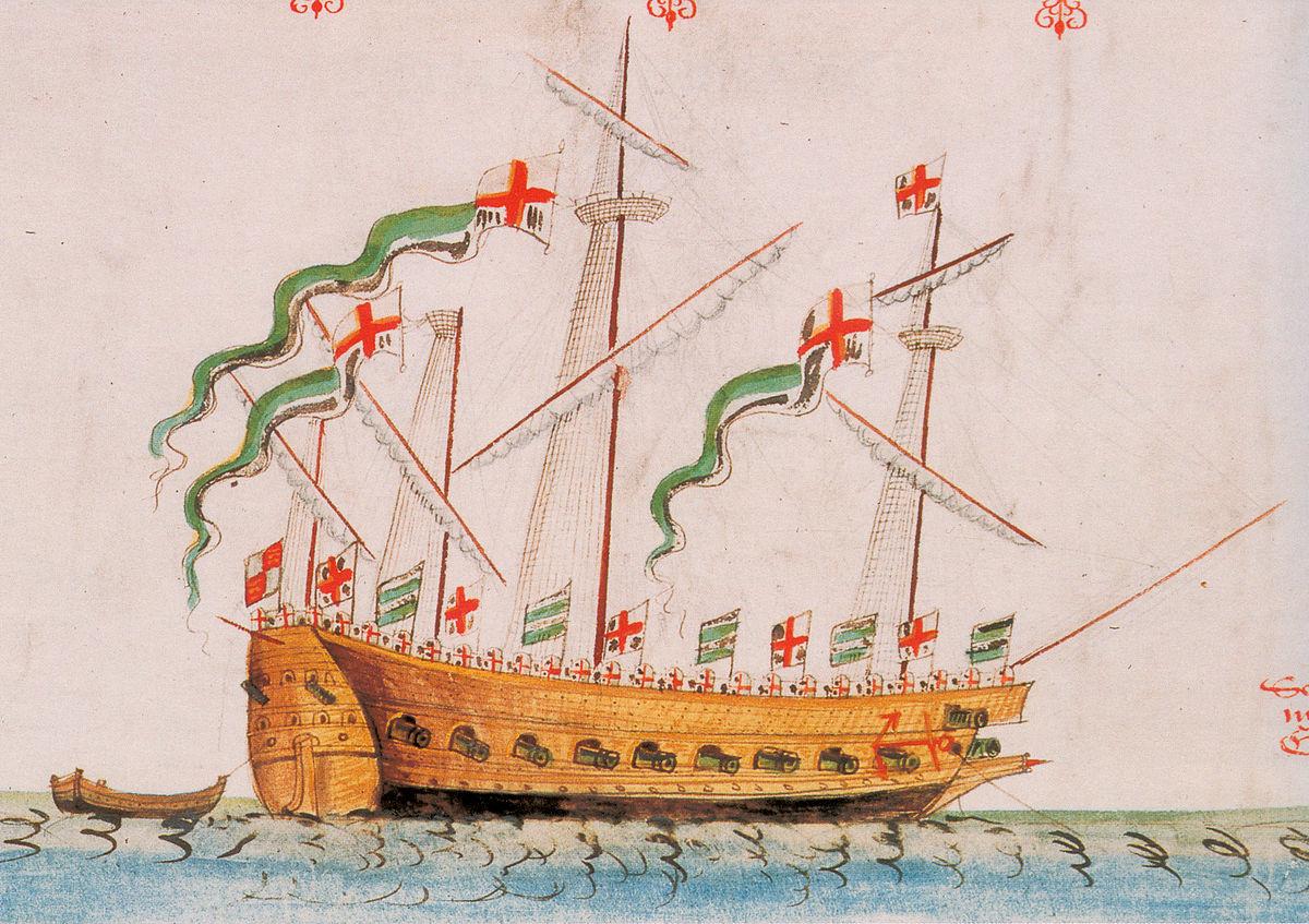 16th century English ship
