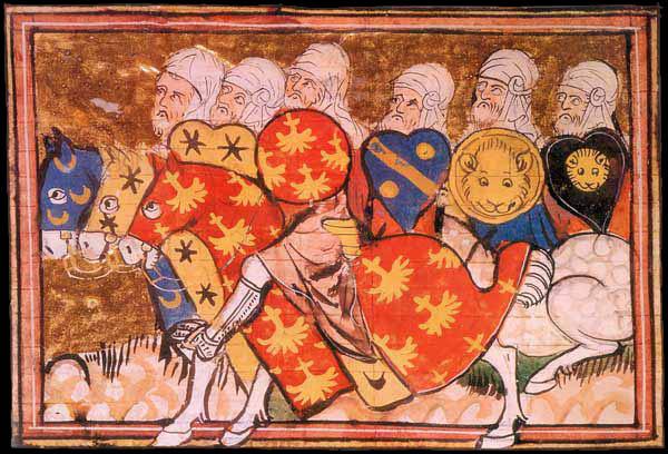 The Army of Salah ad-Din - 14th century manuscript