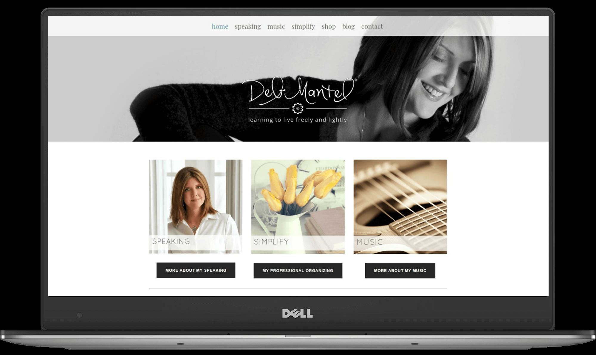 Deb Mantel website designed by Deb Mantel Design