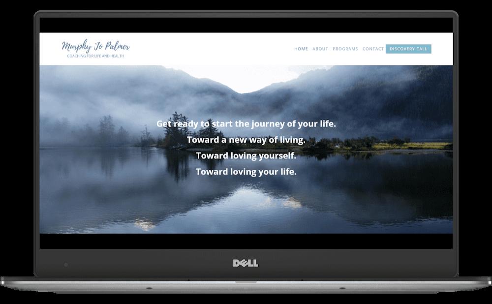 Murphy Jo Palmer Coaching website designed by Deb Mantel Design