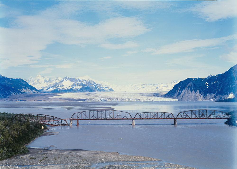 Childs Glacier at Million Dollar Bridge