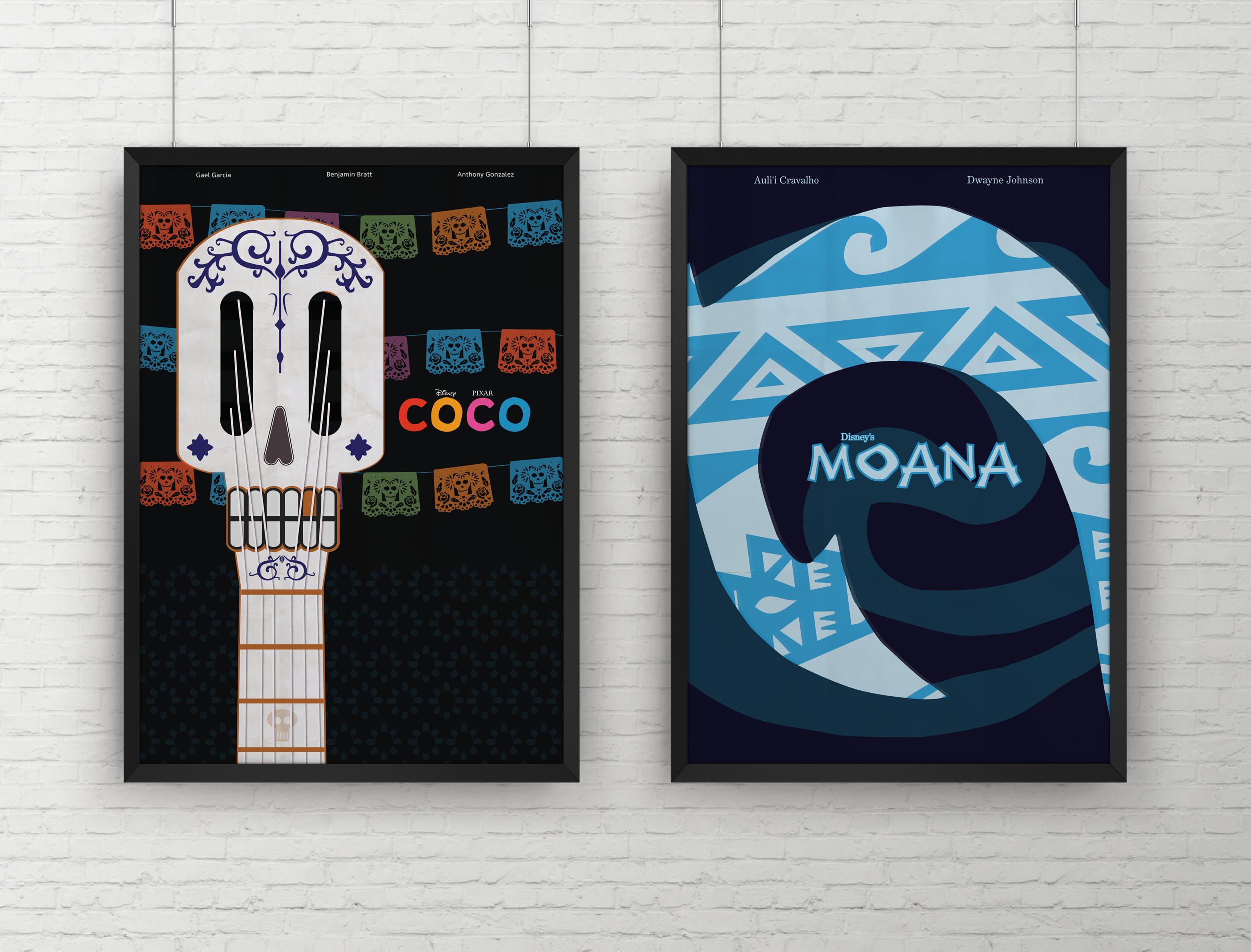 Disney Minimal Movie Poster Project -