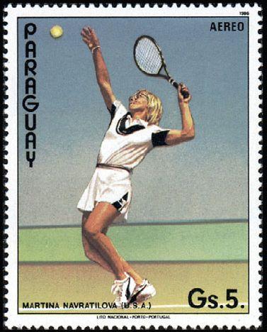 Paraguay_stamp_-_Martina_Navrátilová.jpg