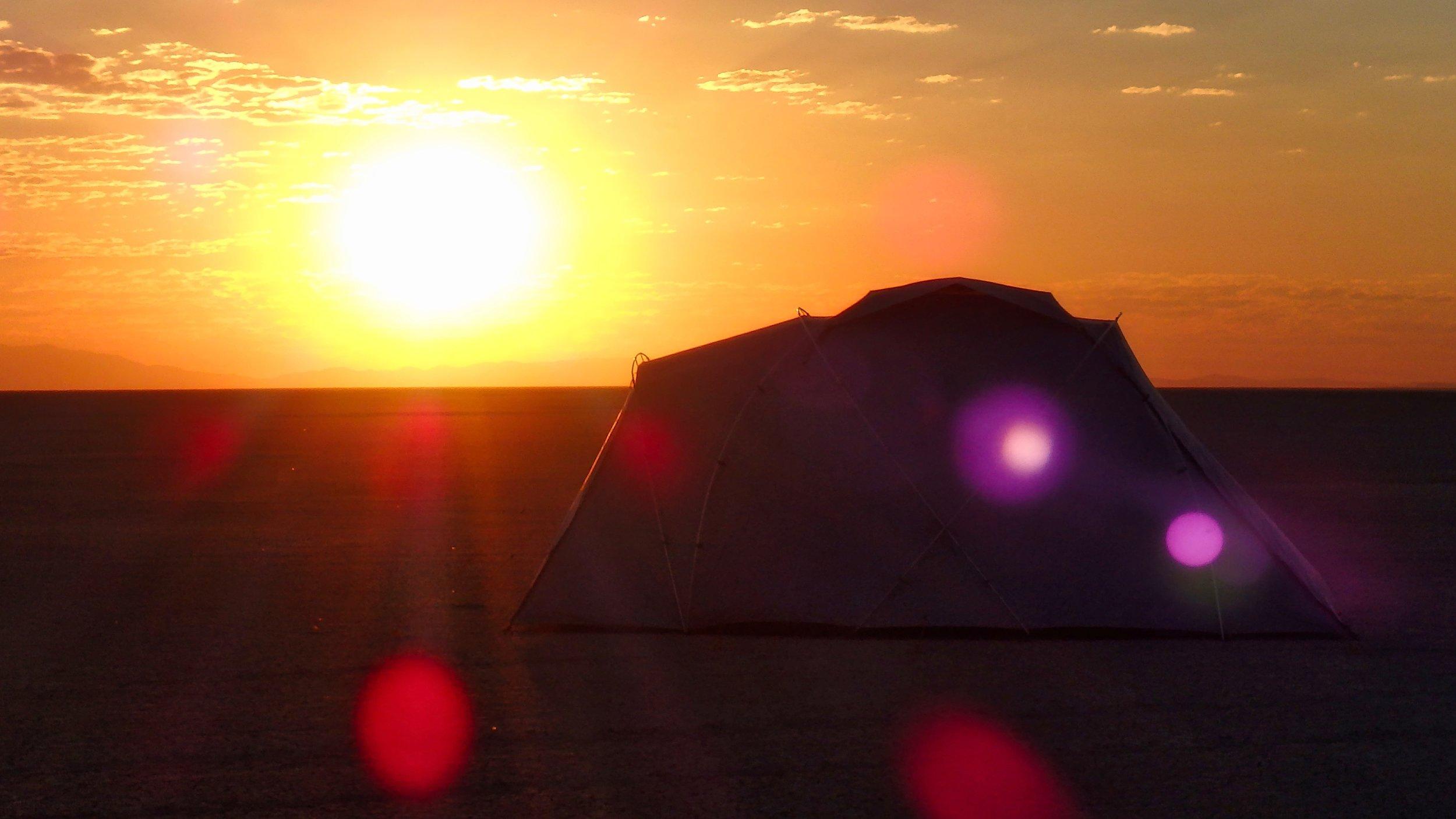 Sunrise on the Black Rock Desert Playa
