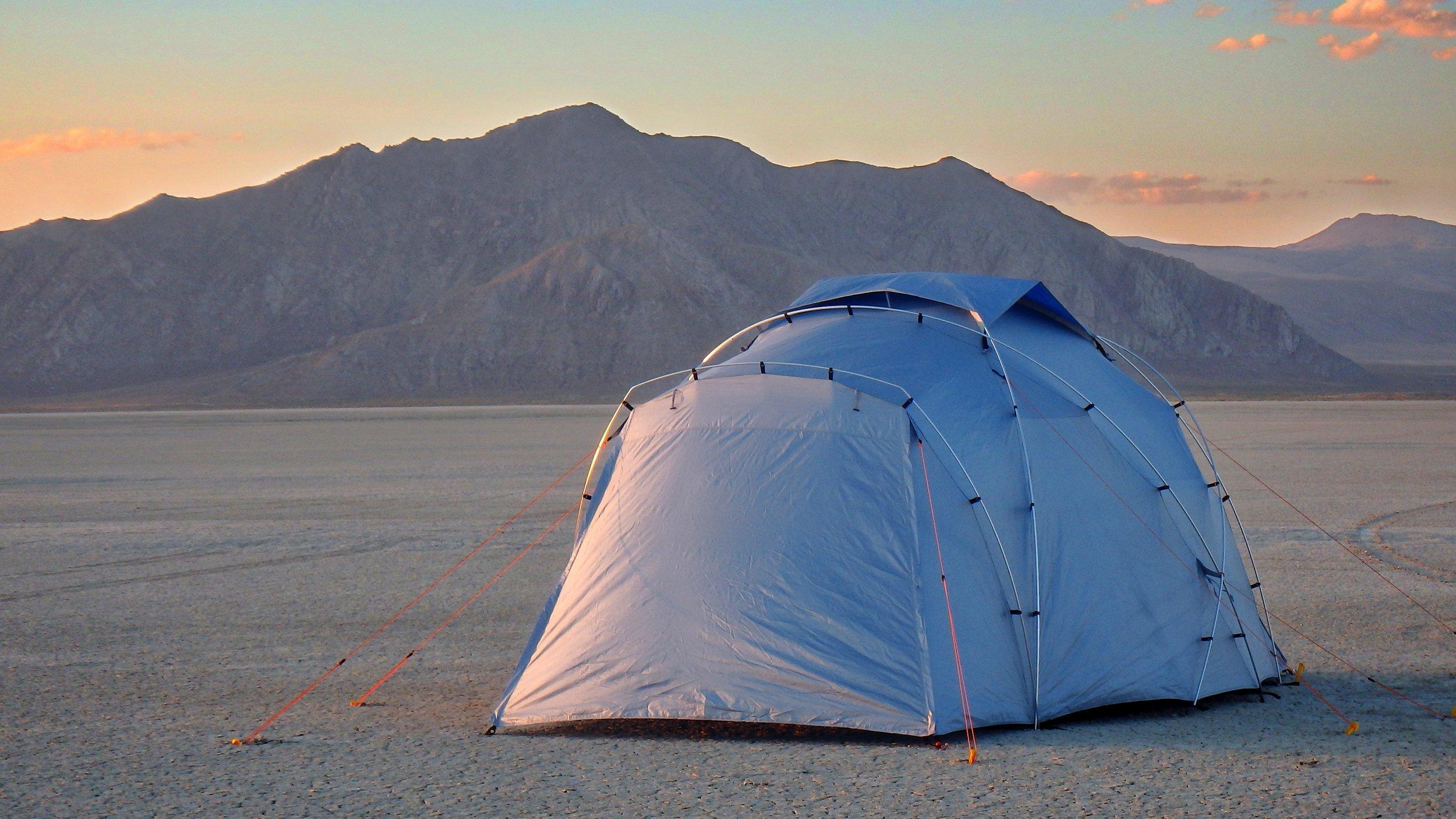 Testing in the Black Rock Desert, Nevada.