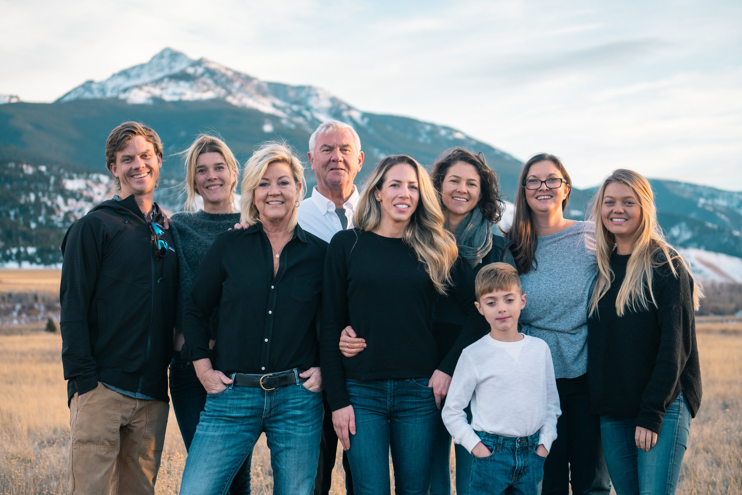 The Clougherty Family gets together for a portrait in Paradise Valley, Montana.
