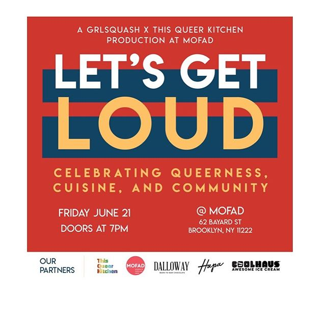 Less than 1 week away till our PRIDE EDITION 🌈  @mofad event with @grlsquash @coolhaus  @dallowaychocolate and @hapafoodtruck . Come celebrate queerness, cuisine and community with us💕 *tix link in bio* DM us with questions