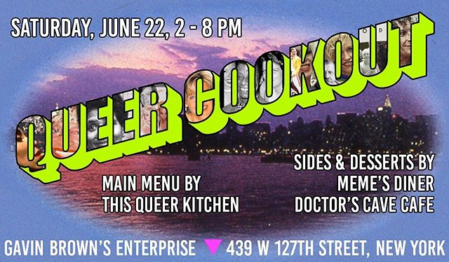 Didn't get a ticket for the MOFAD event tonight? Have no fear, we'll be at @gavinbrownsenterprise from 2pm-8pm tomorrow for a FREE queer cookout! ✨Swing by, say hi, stay for the food (& the queers!) 🌈 see you bbys there!