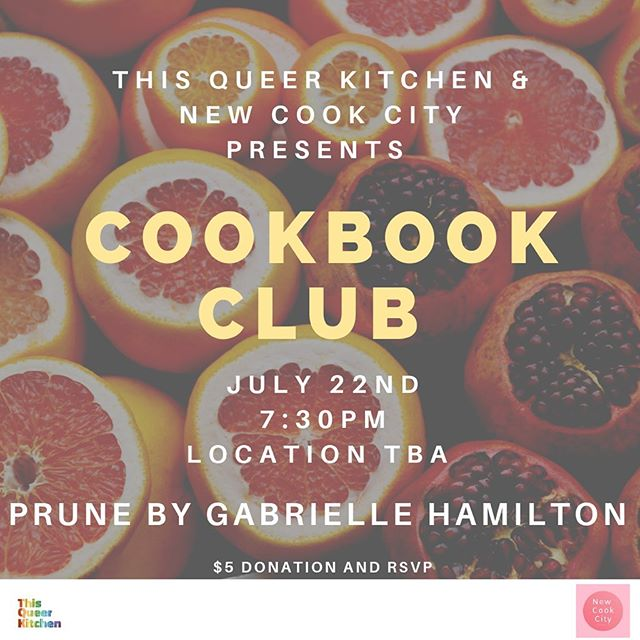 Our jam 🍓🍒 (see what we did there!) is empowering and supporting queer folx in our community which is why we are honored to team up with @newcookcity_  cookbook club to bring you PRUNE by @hamilton_gabrielle for the month of JULY. Come mingle and meet friends while enjoying recipes from one of our faves 🌈 *SPACE IS VERY LIMITED* sign up through the *link in bio*