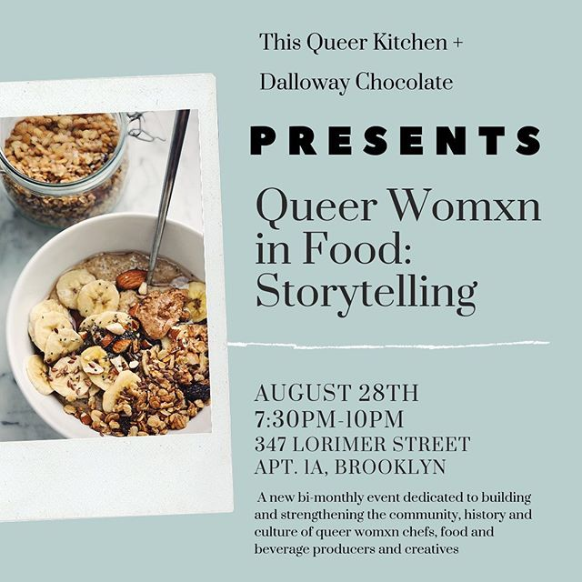 Have ya heard? The NEXT bi-monthly Womxn in Food: Storytelling is THIS Wednesday and we are brunchin' It up! If you would like to learn more or would like an invite, please send us a DM ✨