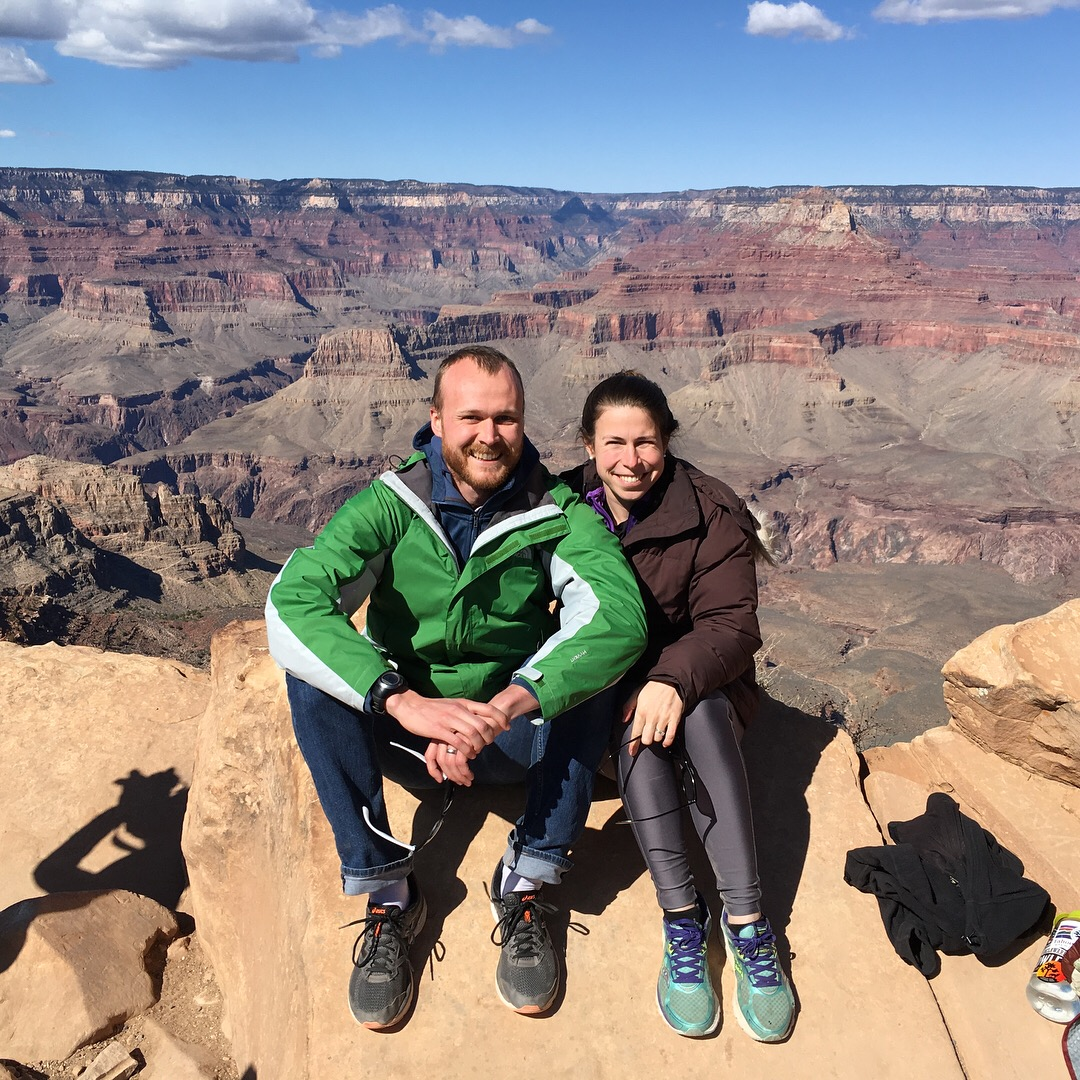 At Ooh-Aah point on the South Kaibab trail, about 0.9mi into the Grand Canyon.