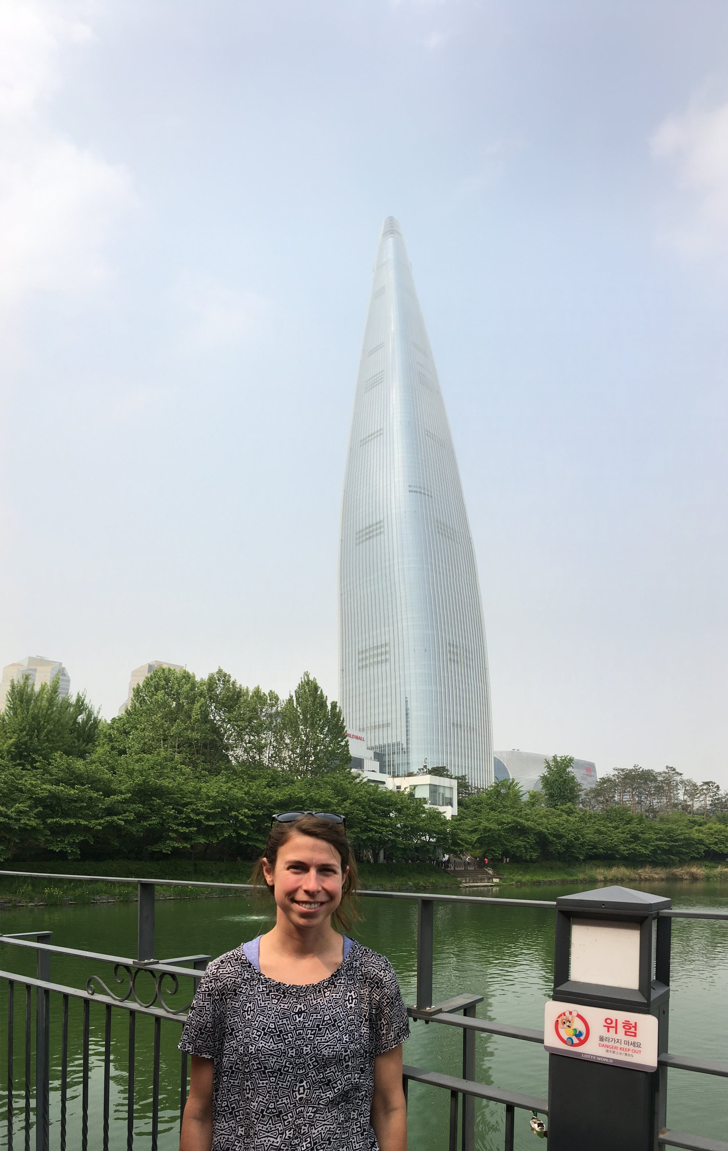 """This is actually """"Lotte Tower"""" in the background"""