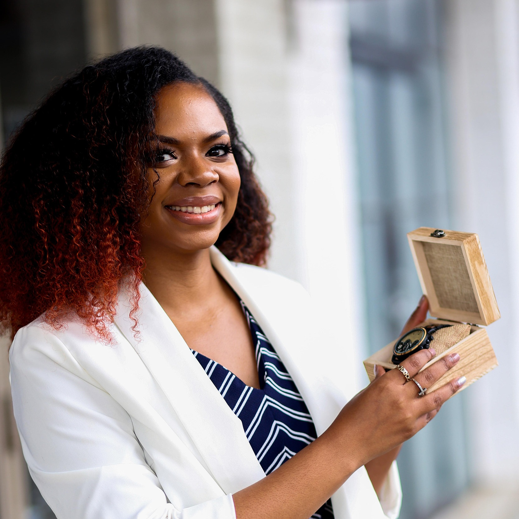 Meet Shanayla, the wooden watch creator behind  @AFewWoodMen_   Location: Atlanta, Georgia