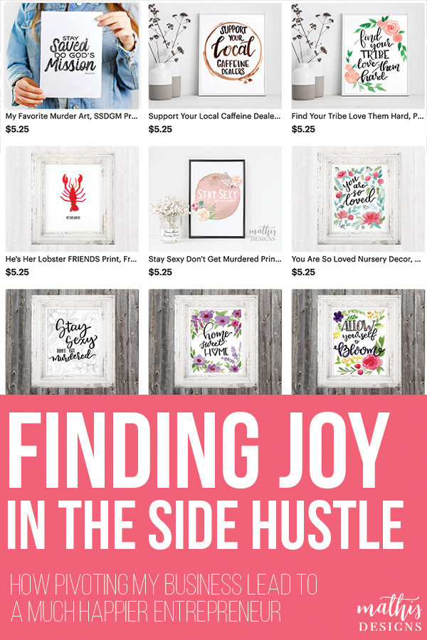 finding joy in the side hustle