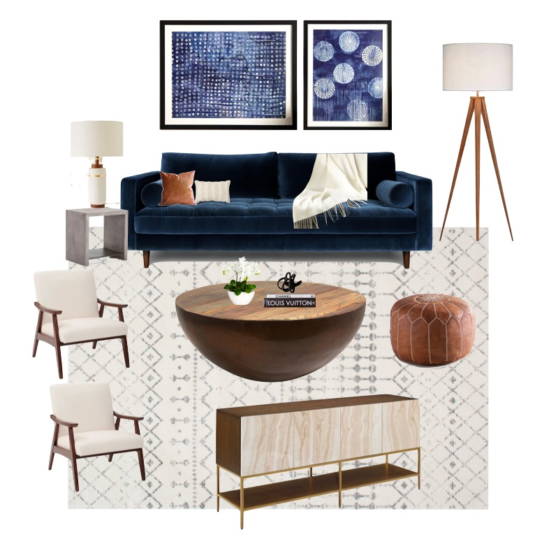 Get The Look For Less: Mid-Century Modern Living Room — Jess ...