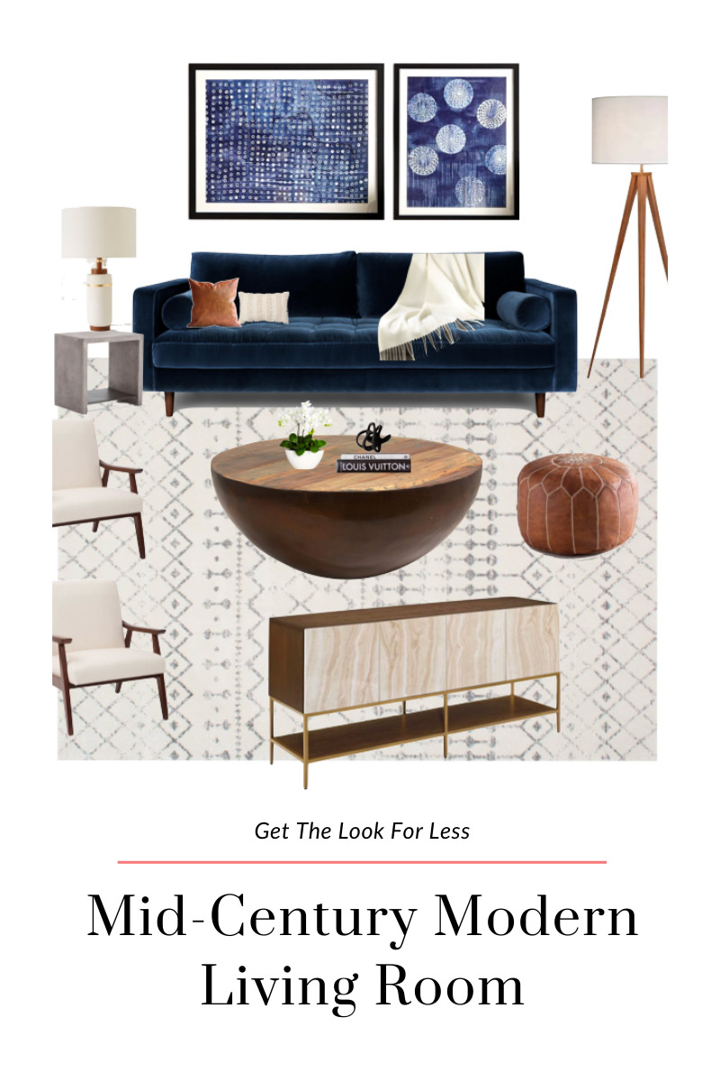 Get The Look For Less Mid Century Modern Living Room Jess Obsessed