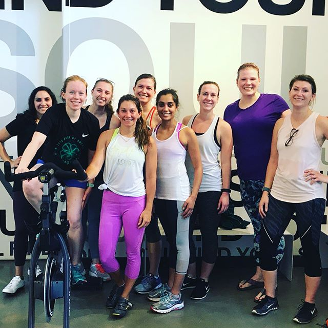 I spent this beautiful Friday morning #WorkinOnMyWellness with these awesome #WomenInMedicine. I'm so honored to be a part of this group of amazing women. #Wellness #FemInEM #SoulCycle #Brunch  @rush_emergency_medicine