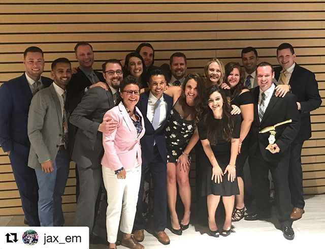 These 15 amazing humans are some of the most fabulous physicians I know. I could not be more proud of them for graduating from the hardest (in my opinion) place to train in this country! #EmergencyMedicine #CountyStyle #JaxEM  #Repost @jax_em with @get_repost ・・・ Today's the day!! Congrats to the class of 2018!! We will miss you all!! #jaxem