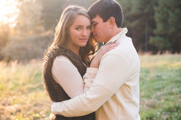 Rustic fall country engagement session
