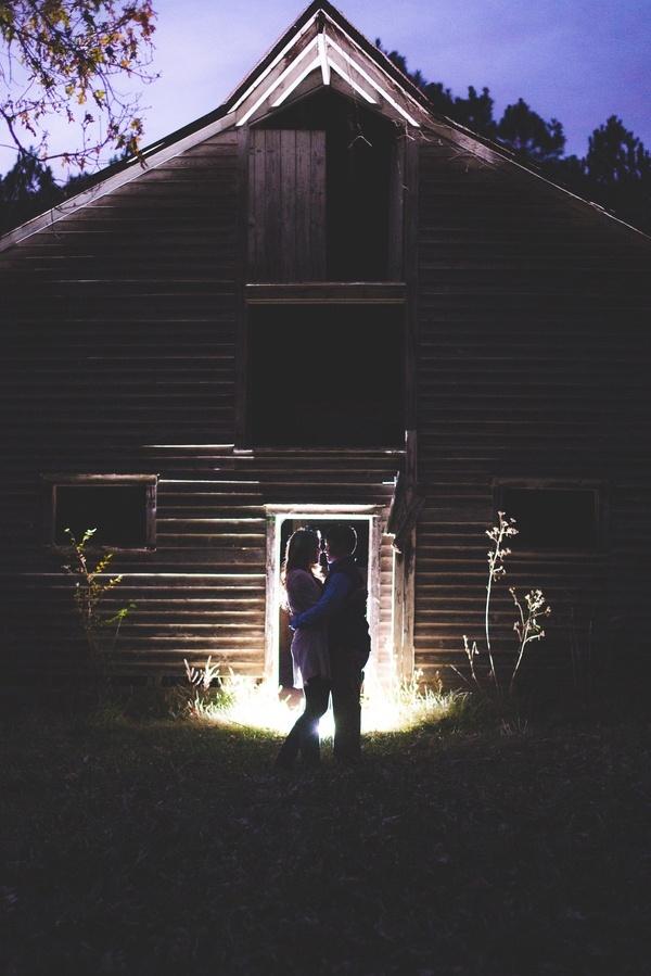 Beautiful barn engagement photo