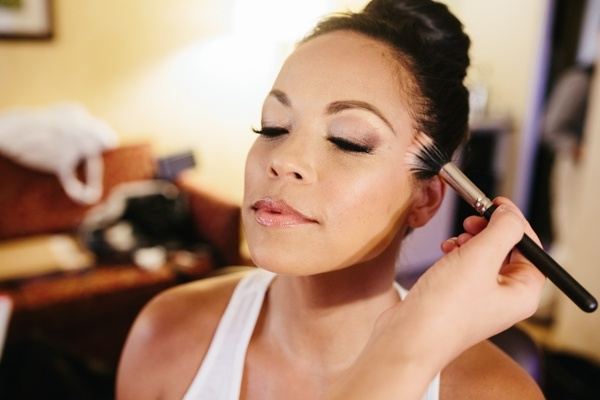 Bride makeup getting ready photo