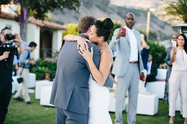 Gorgeous photo of the bride and groom's first dance! Love this!