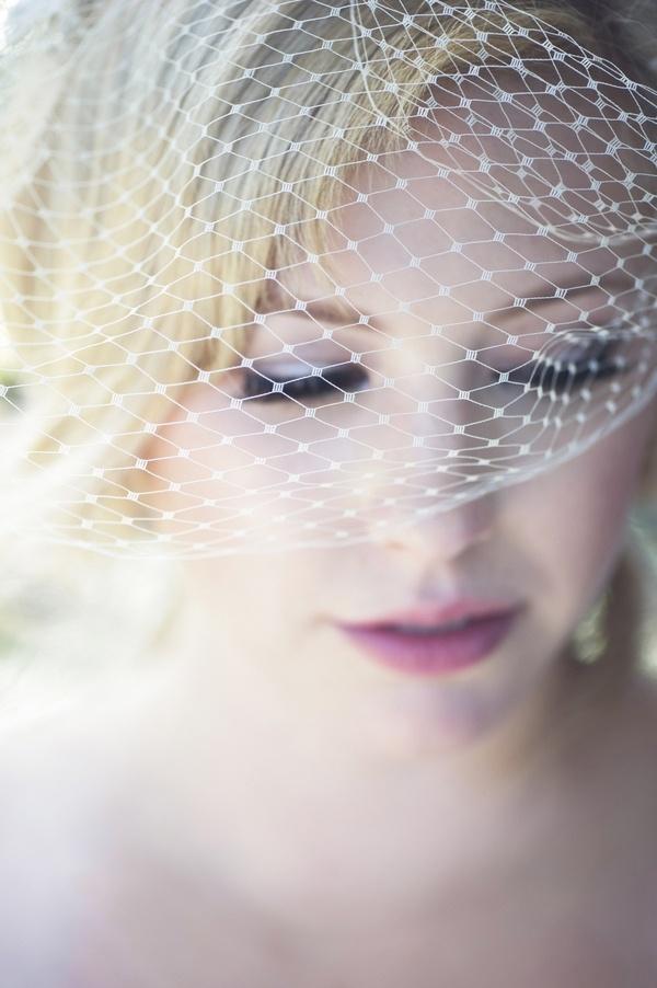 Bride birdcage veil inspiration