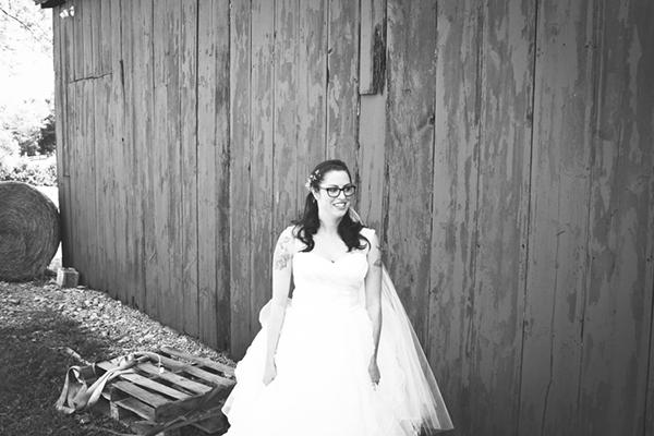 Wedding bride first look