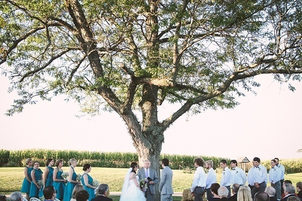 A simple and rustic wedding ceremony
