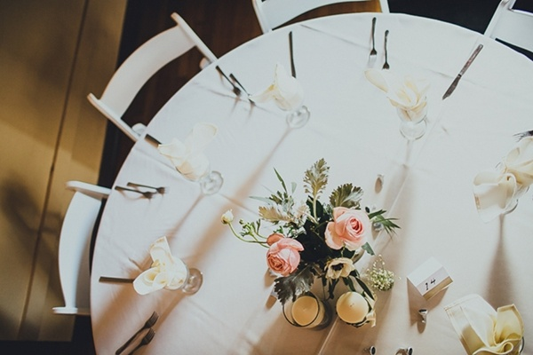 Elegant and simple indoor wedding decor