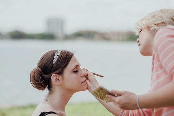 Bride getting ready photo