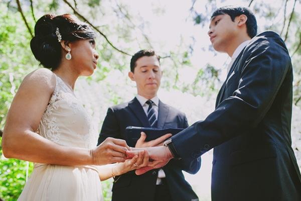 Gorgeous romantic wedding ceremony photo