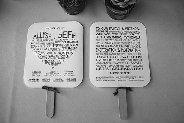 Thank-you wedding fan idea