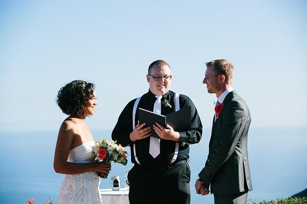 Wedding ceremony in Malibu