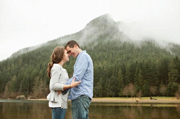 Fun mountain engagement photo!