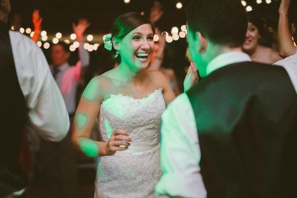 Incredibly happy bride at her wedding!