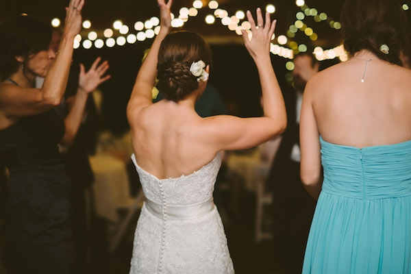 Bride getting down at her wedding!