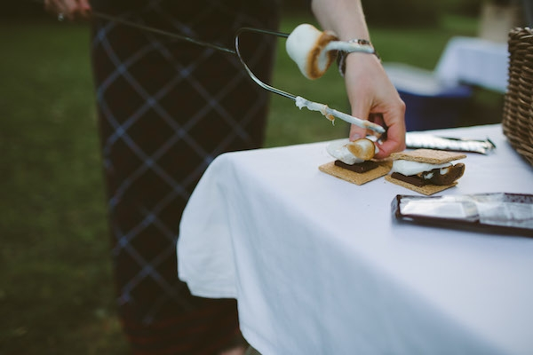 S'mores are the best for a chilly wedding!